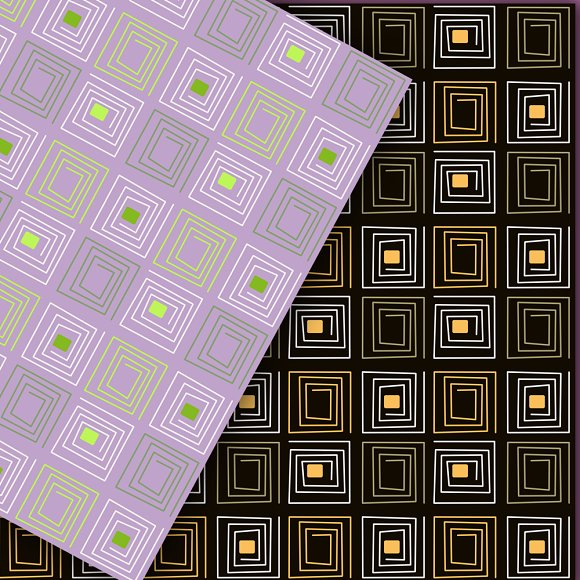 A set of geometric patterns. in Patterns - product preview 3
