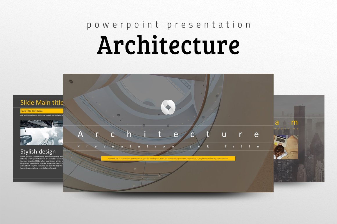 Architecture ppt template presentation templates for Free online architecture design