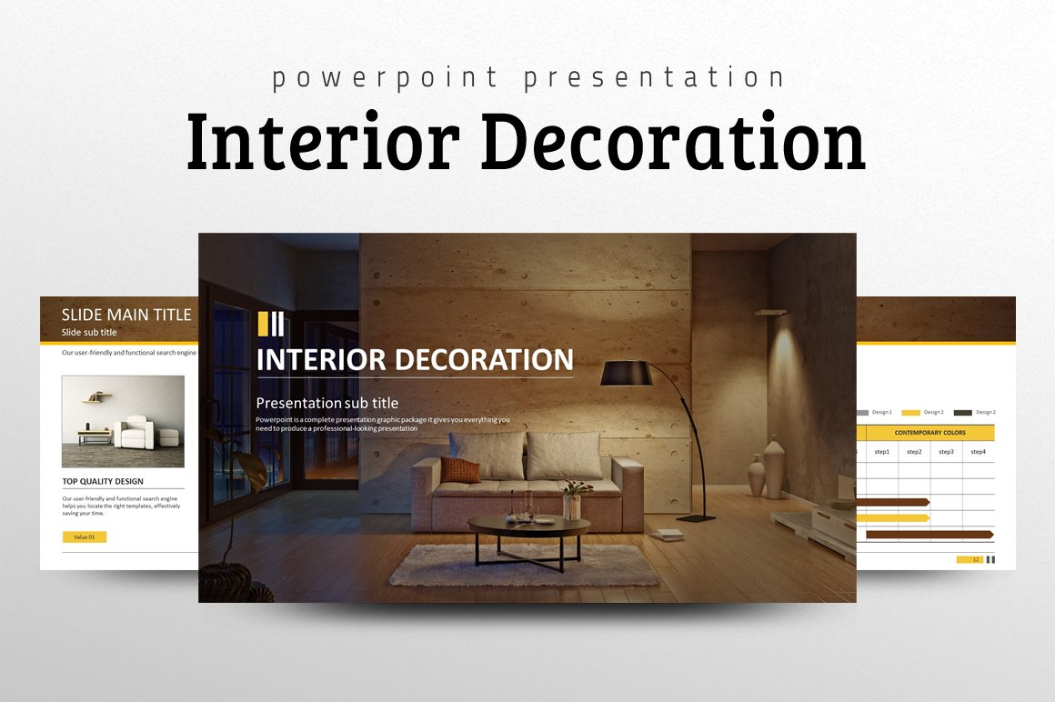 interior decoration ppt presentation templates creative market