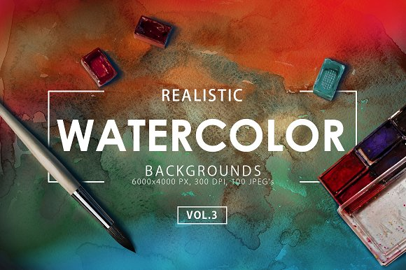50% OFF Watercolor Backgrounds 3 in Textures