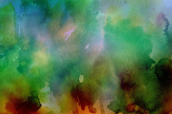 50% OFF Watercolor Backgrounds 3 in Textures - product preview 6