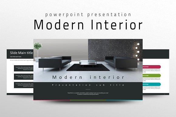 modern interior ppt template presentation templates creative market