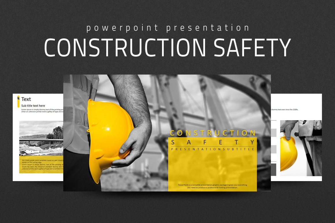 Construction safety ppt presentation templates creative market alramifo Images