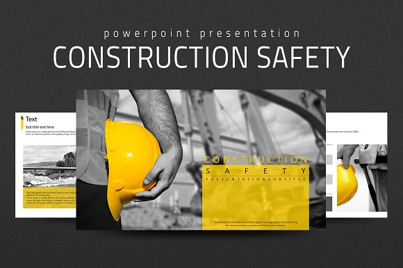 Construction Safety PPT ~ Presentation Templates ~ Creative Market