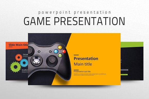 Game Presentation Template Presentation Templates Creative Market - Video game pitch document template