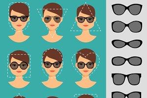 Women sunglasses shapes