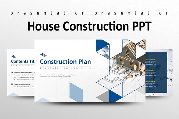 House construction ppt presentation templates creative market house construction ppt presentations malvernweather Images