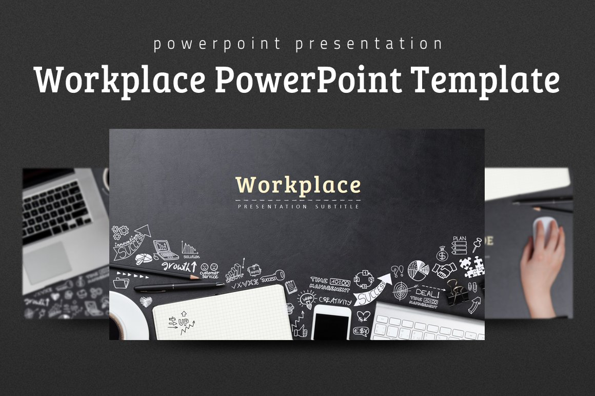 Workplace powerpoint template presentation templates creative workplace powerpoint template presentation templates creative market toneelgroepblik Image collections