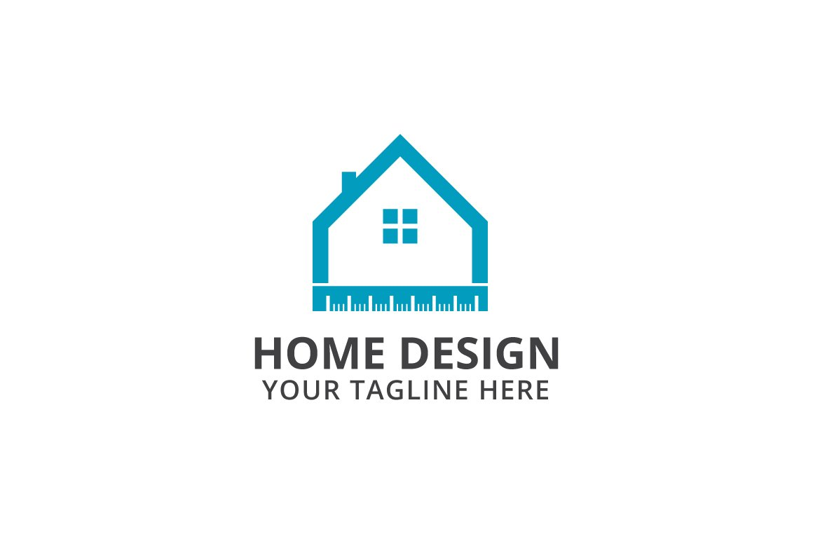 Home design logo template logo templates creative market Homedesign net