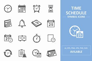 Time and Schedule Symbol Icons