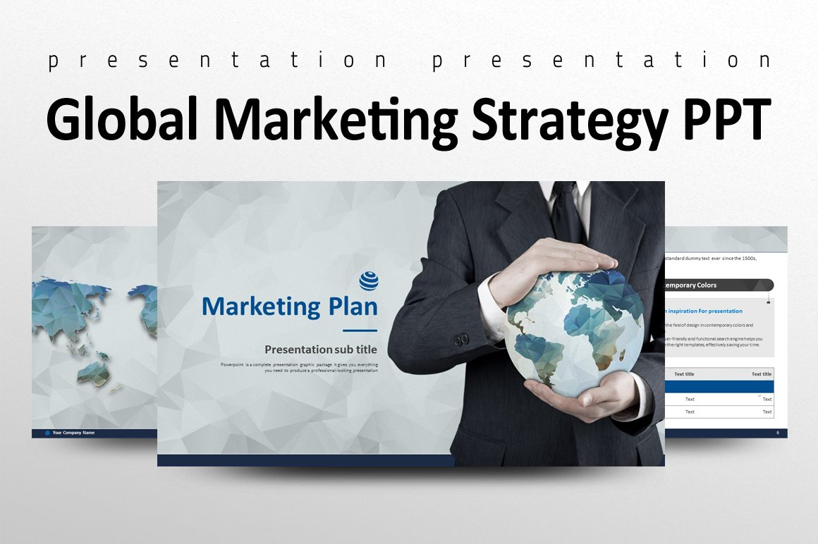Global Marketing Strategy PPT ~ Presentation Templates ~ Creative Market