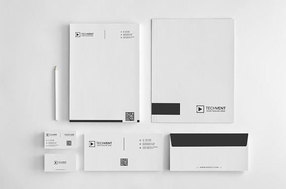 minimal identity design template stationery templates creative