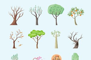 Set of Isolated Trees Design Flat