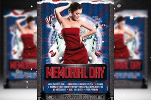 Memorial Day Flyer Template 2