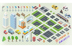 Isometric Part City Infrastructure