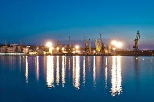 Night Seaport