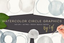 Grey and Beige Watercolor Rounds