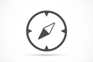 Compass basic icon