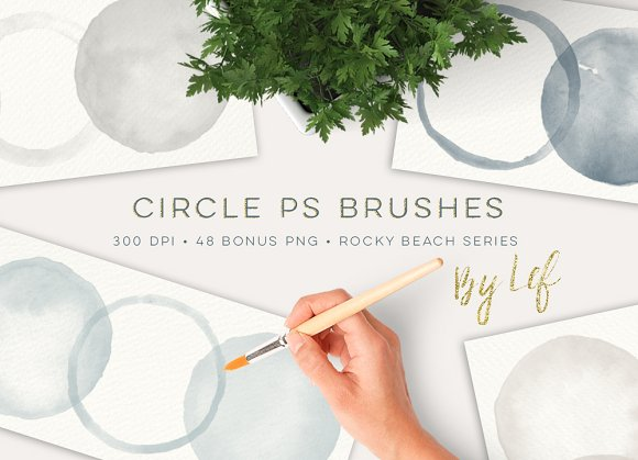Photoshop Brush set Round Watercolor