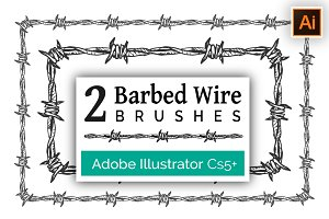 Barbed Wire Brushes for Illustrator