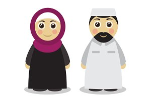 Muslim couple man and woman