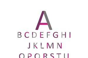 Colored font flat design vector