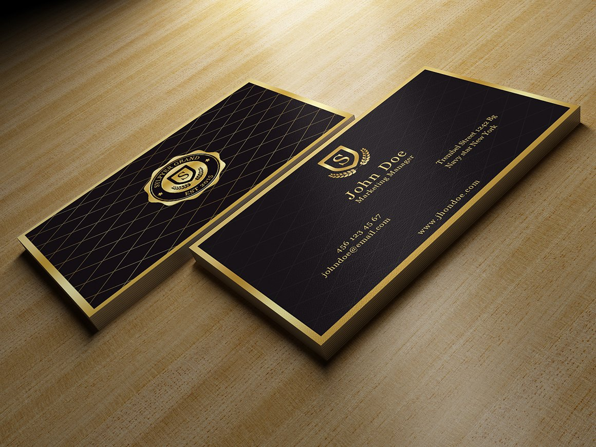 Gold And Black Business Card ~ Business Card Templates ~ Creative Market