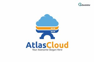 Atlas Cloud Logo Template