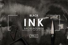 Black Ink Backgrounds Vol. 3