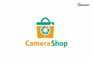 Camera Shop Logo Template