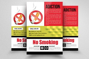 Say No to Smoking Flyer Template Ad