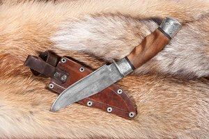 Hunting knife and sheath