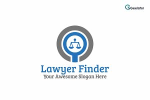 Lawyer Finder Logo Template