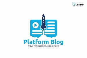 Platform Blog Logo Template