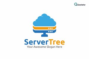 Server Tree Logo Template