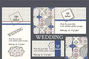 WEDDING invitations, Patchwork