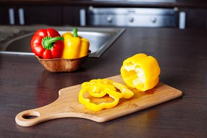 pepper on cutting board