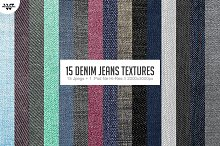 15 DENIM JEANS Textures Backgrounds