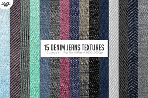 15 DENIM JEANS Textures Backgrounds