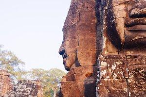 Bayon temple in Cambodia
