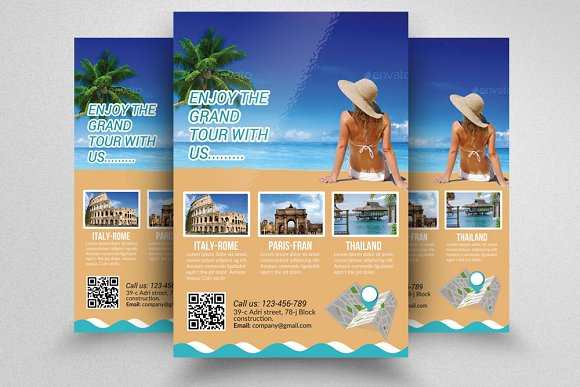 tour travel agency flyer template flyer templates creative market