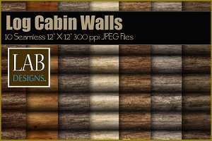 10 Wood Log Cabin Wall Textures