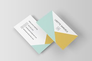 Geometric Angles Business Card