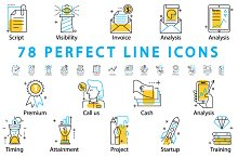 78 PERFECT LINE ICONS