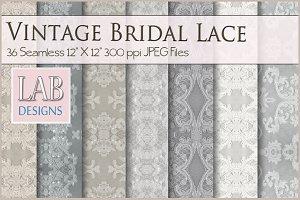 36 Vintage Bridal Lace Textures