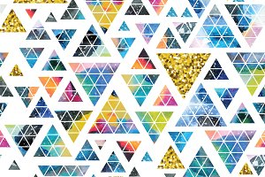 Triangle design collection.