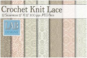 12 Vintage Crochet Lace Textures