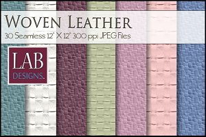 30 Seamless Leather Weave Textures