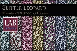15 Glitter Leopard Textures Seamless