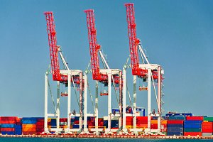 Three Port Cranes